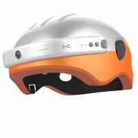 Шлем с камерой Airwheel С5 (белый с оранжевым, размер L)