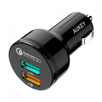 Автомобильное зарядное устройство Aukey CC-T7 2-Port (QC3.0 + AiPower) 36W