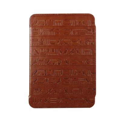 """Pocket Nature чехол стандартный для ONYX BOOX Cleopatra 1/2/3 (цвет коричневая кожа"""", держатели черные), совместим с ONYX T68, T76ML/SML"""