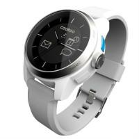 Умные часы CooKooWatch белые с белым ремешком, серебряная отделка часов
