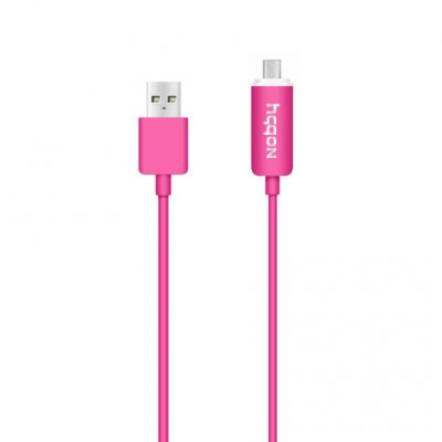 Кабель Nobby Connect DT-006 LED USB-microUSB 1 m  (Розовый)
