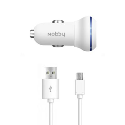 Автомобильное ЗУ Nobby Energy AC-002 2USB 1A/2A + кабель microUSB (Белый)