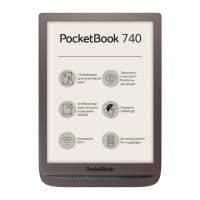 Электронная книга Электронная книга PocketBook 740 (Коричневая)