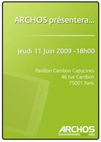 Приглашение на мероприятие Archos