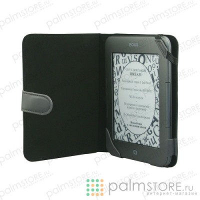 Pocket Nature чехол стандартный для Onyx BOOX i62 с ремешком (серый с черным)