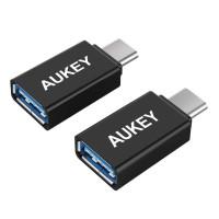 Переходник Aukey CB-A1 USB-C to USB 3.0 Female Adapter x2 Black