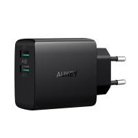 Сетевое зарядное устройство Aukey PA-U42 2-Port 24W 4,8A Wall Charger (AiPower)