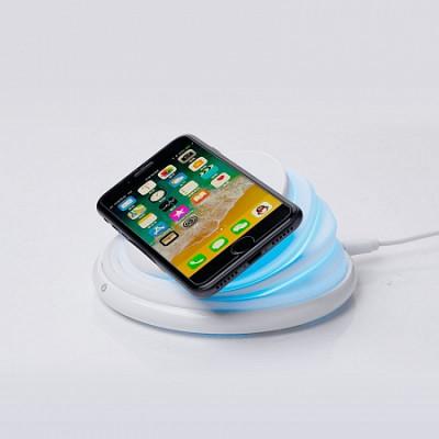 Беспроводное зарядное устройство с динамической подсветкой LEXAND LP-1CL (Белый)