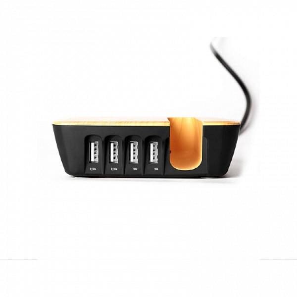 Зарядная станция с четырьмя портами USB и портативным внешним аккумулятором LEXAND LP-4CL (Черный) цена 2017
