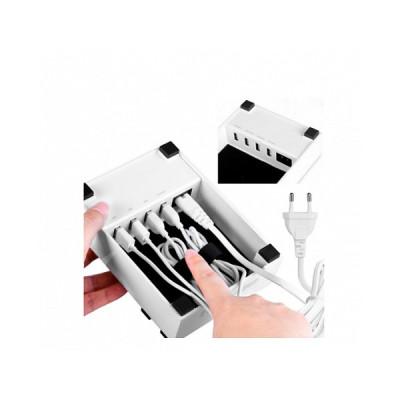 Зарядная станция с четырьмя портами USB LEXAND LP-618 (Белый)
