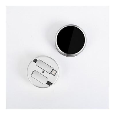 Кабель-рулетка LEXAND Roll-L lightning+micro USB (Черный)