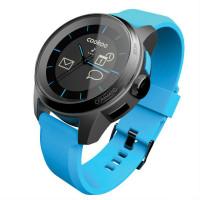 Умные часы CooKooWatch черные с синим ремешком, синяя отделка