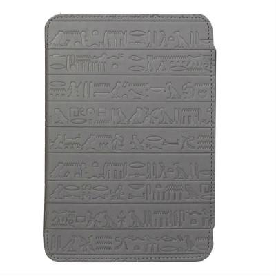 Pocket Nature чехол стандартный для ONYX BOOX T76SML/ML Nefertiti / Cleopatra (серый с  тиснением, подкладка черная, держатели черные)
