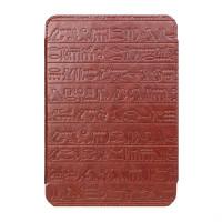 Pocket Nature чехол стандартный для ONYX BOOX T76SML/ML Nefertiti / Cleopatra (коричневый с тиснением, подкладка бежевая, держатели белые)