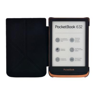 Чехол для PocketBook 616/627/632 трансформер чёрный  (PBC-627-BKST-RU)