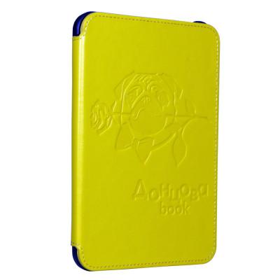 Pocket Nature чехол стандартный для ONYX Dontsova Book (желтый с тиснением, подкладка черная, держатели черные)