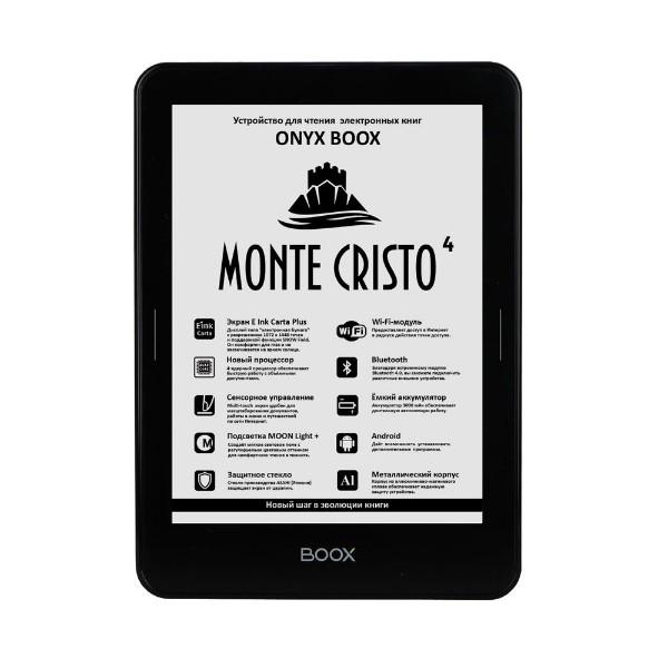цена на Электронная книга ONYX BOOX MONTE CRISTO 4 (Черная)
