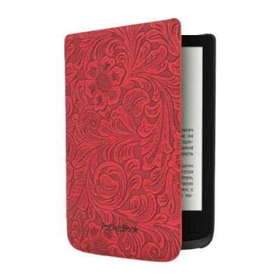 Чехол для PocketBook 616/627/632 красный с узорами (HPUC-632-R-F)