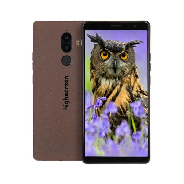 Смартфон Highscreen Power Five Max 2 3/32GB (Коричневый) highscreen power five evo white