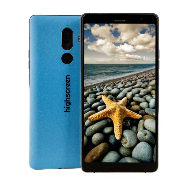 Смартфон Highscreen Power Five Max 2 4/64GB (Синий) ориг чехол flip case для highscreen power five белый