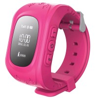 Детские часы-телефон с GPS-трекером Кнопка жизни K911 (Розовые)