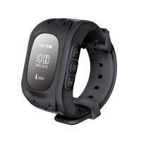 Детские часы-телефон с GPS-трекером Кнопка жизни K911 (Черные)