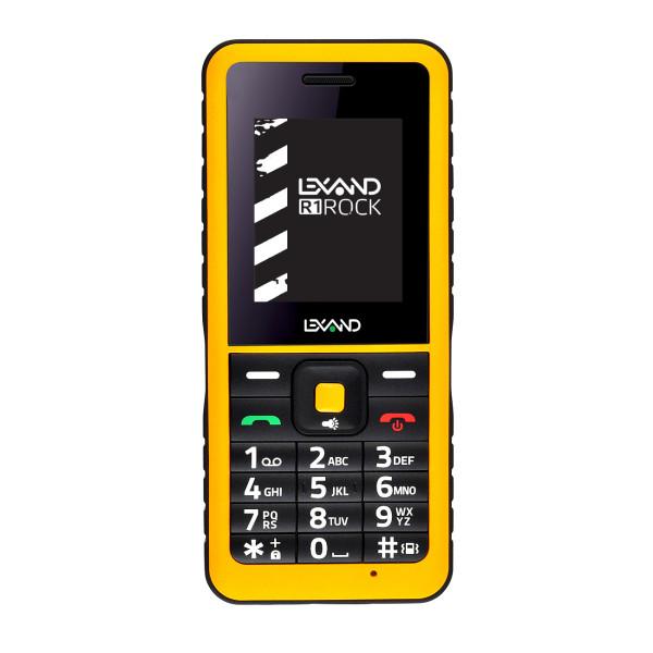 Мобильный телефон LEXAND R1 Rock (Черно- желтый) мобильный телефон lexand a4 big