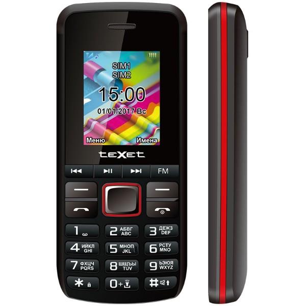 Мобильный телефон teXet TM-203 (Черно-Красный) цена