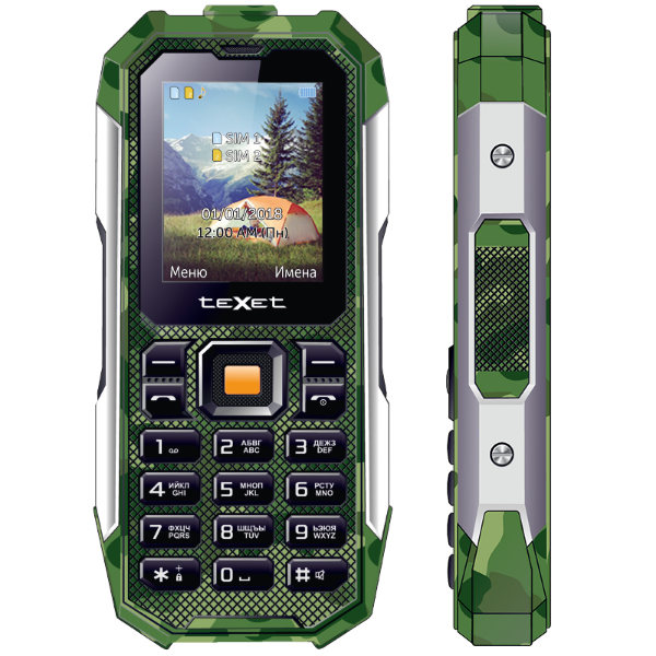 Мобильный телефон teXet TM-518R (Зеленый) радиотелефон texet tx d6955a